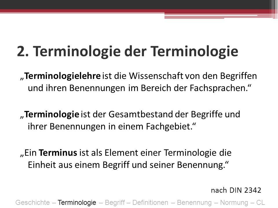2. Terminologie der Terminologie