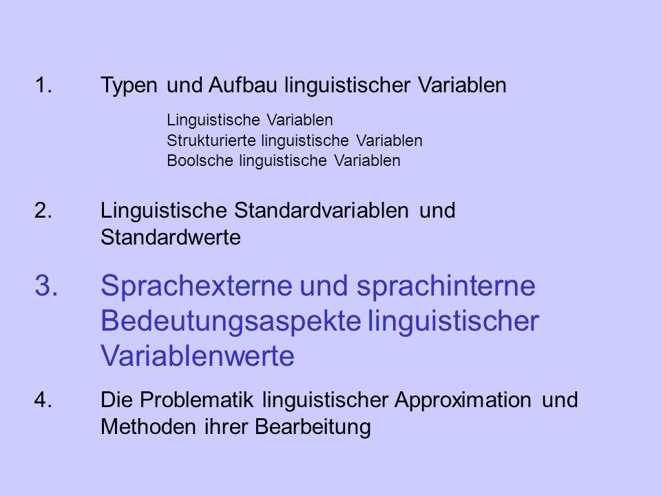 1. Typen und Aufbau linguistischer Variablen