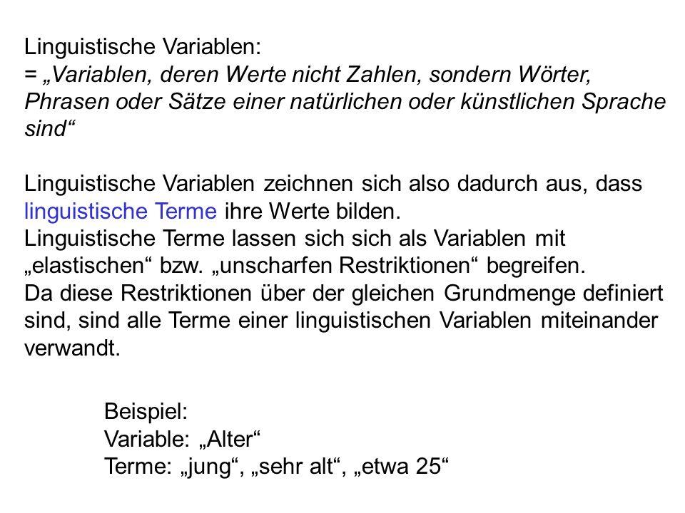 Linguistische Variablen:
