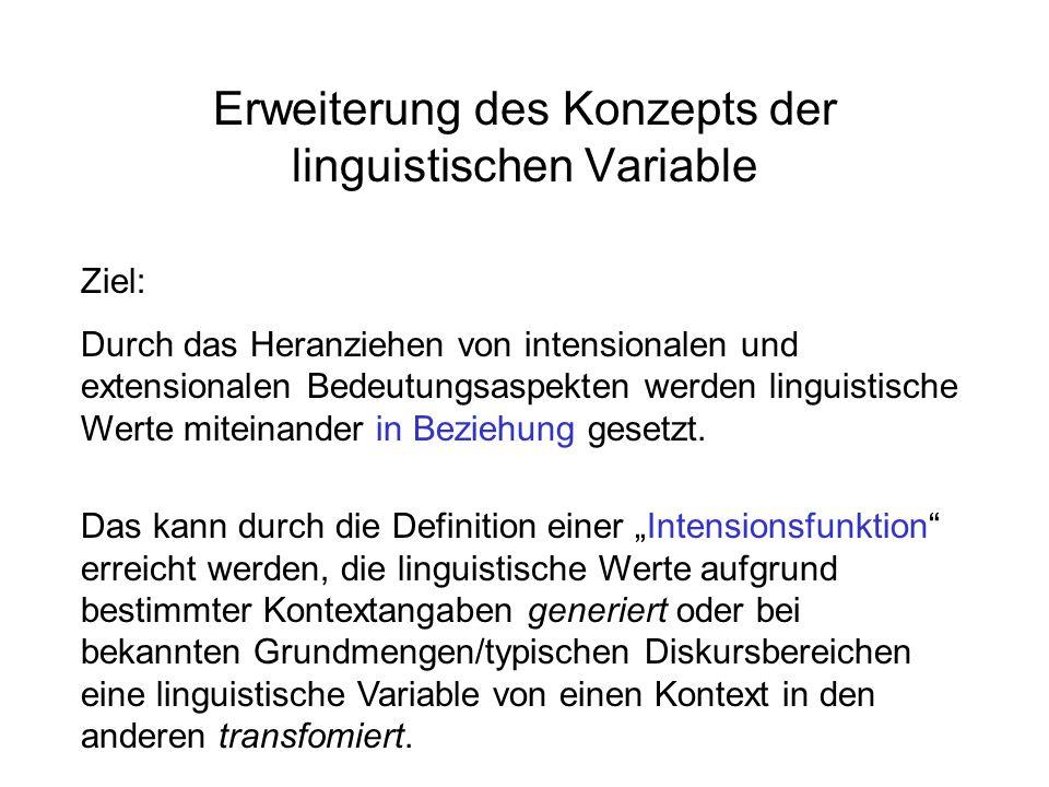 Erweiterung des Konzepts der linguistischen Variable