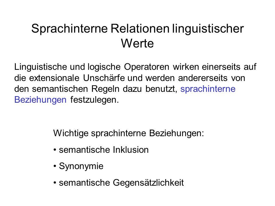 Sprachinterne Relationen linguistischer Werte
