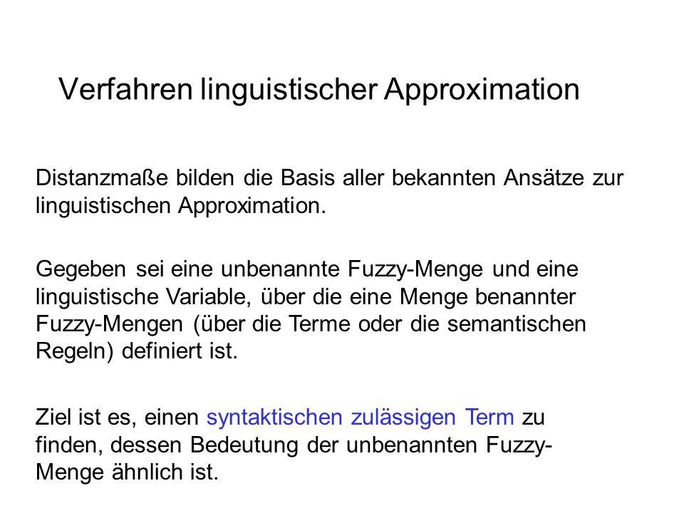 Verfahren linguistischer Approximation