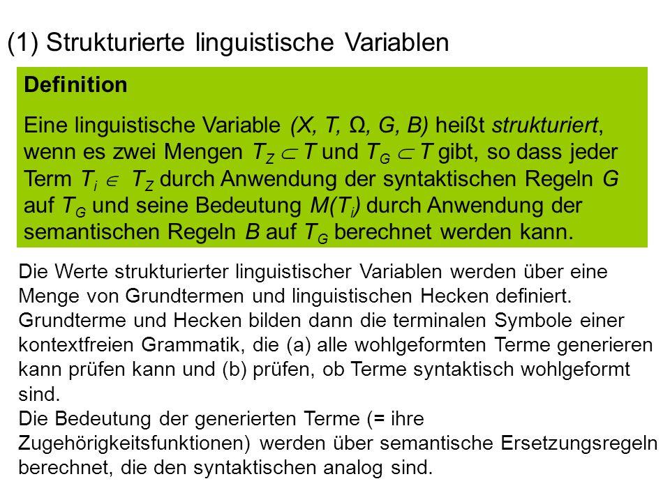(1) Strukturierte linguistische Variablen