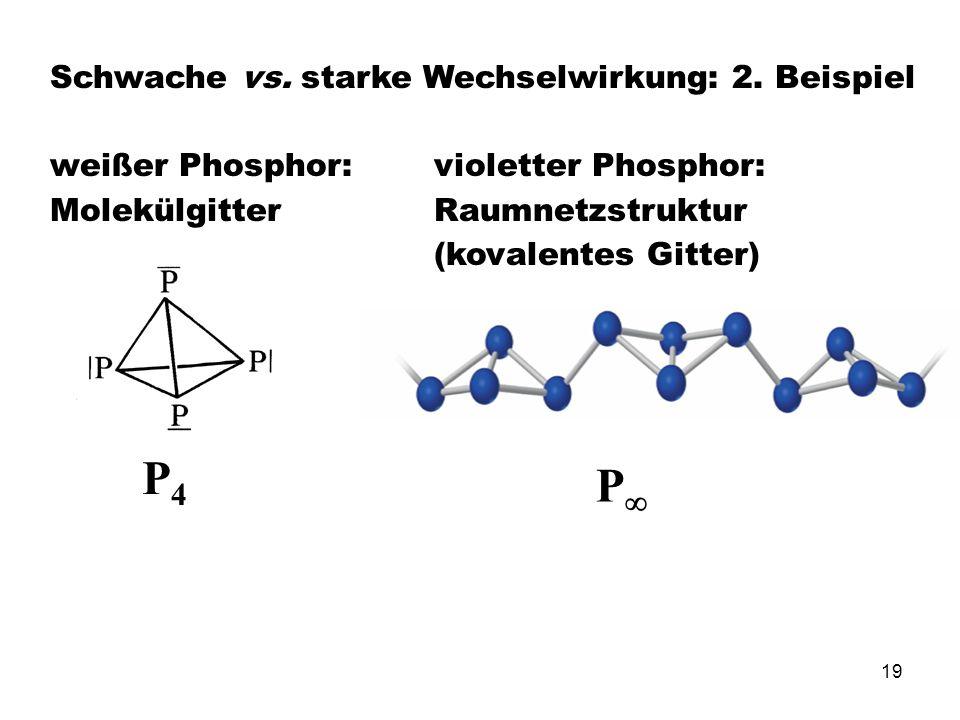 P4 P Schwache vs. starke Wechselwirkung: 2. Beispiel