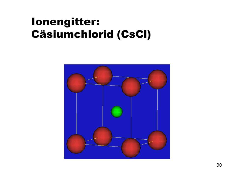 Ionengitter: Cäsiumchlorid (CsCl)