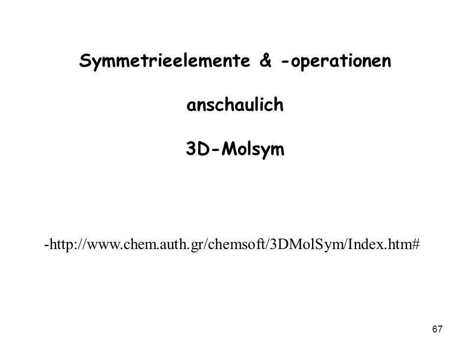 Symmetrieelemente & -operationen