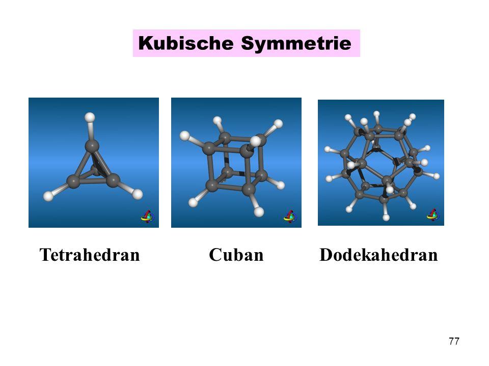 Kubische Symmetrie Cuban Dodekahedran Tetrahedran