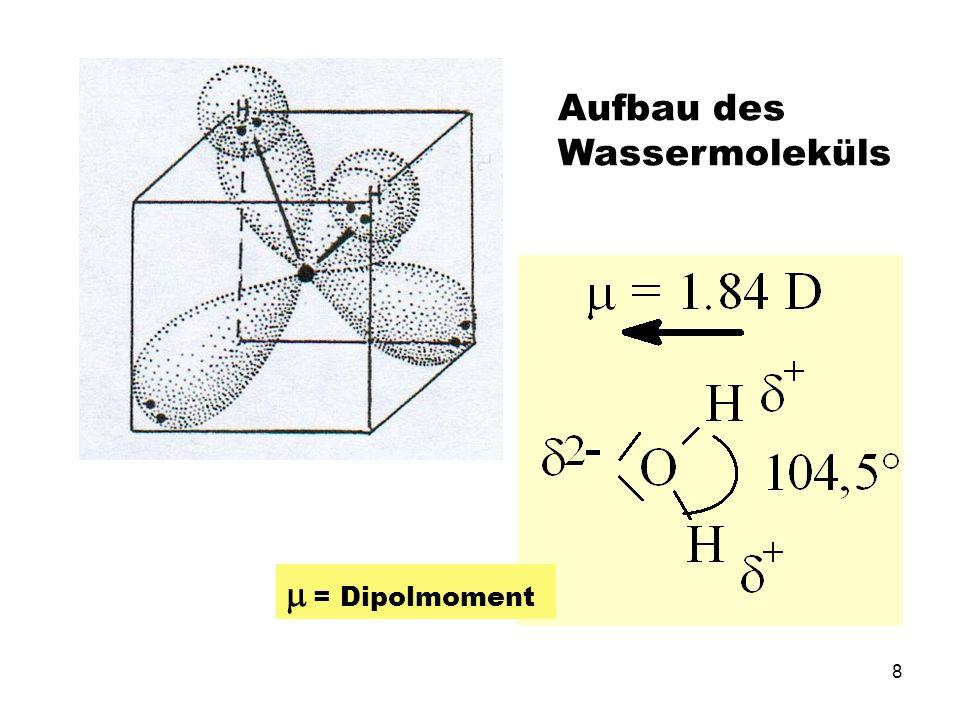 Aufbau des Wassermoleküls
