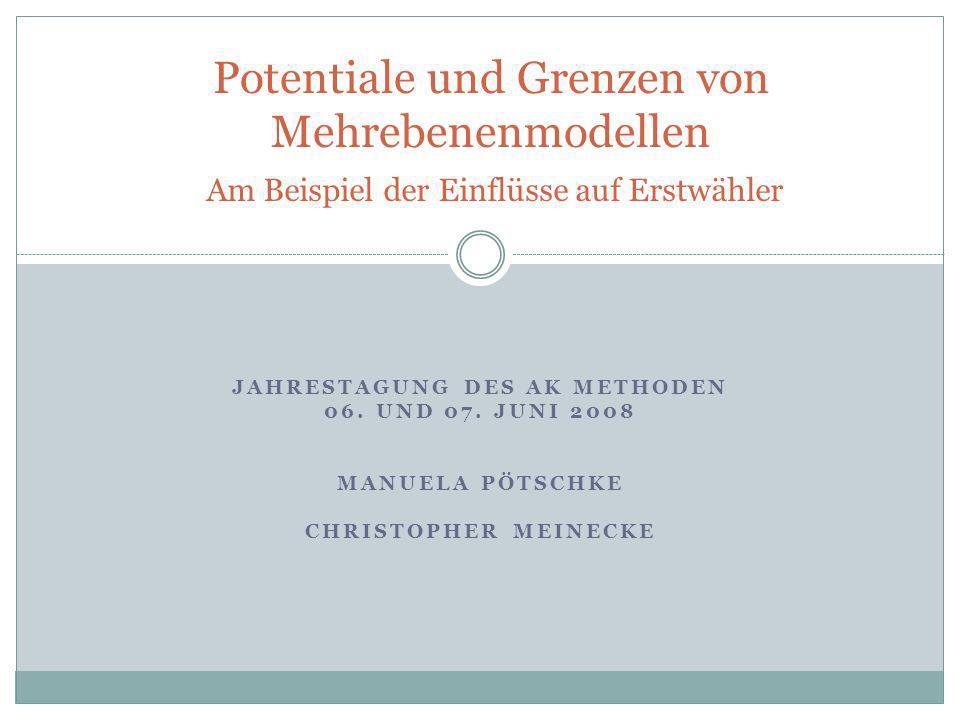 Potentiale und Grenzen von Mehrebenenmodellen
