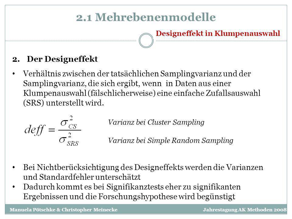 2.1 Mehrebenenmodelle Der Designeffekt