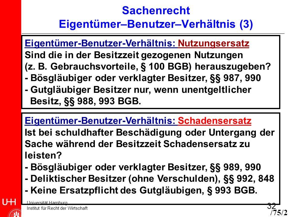 Sachenrecht Eigentümer–Benutzer–Verhältnis (3)