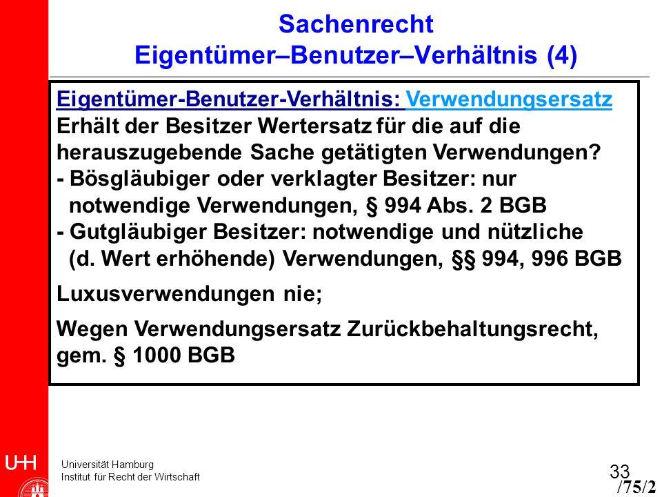 Sachenrecht Eigentümer–Benutzer–Verhältnis (4)