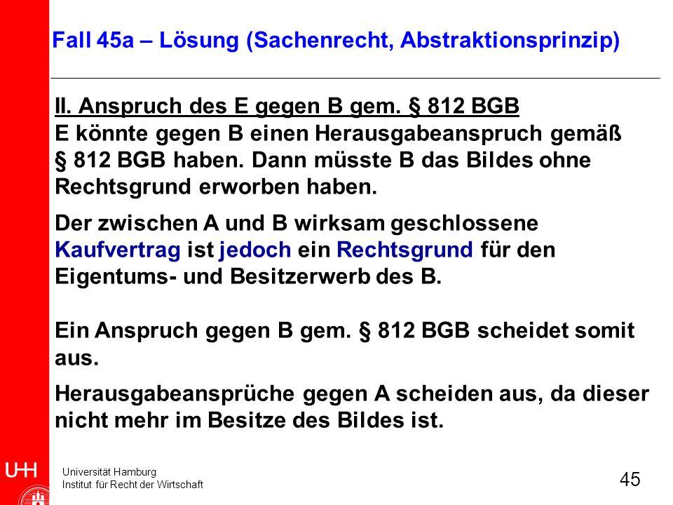 Fall 45a – Lösung (Sachenrecht, Abstraktionsprinzip)