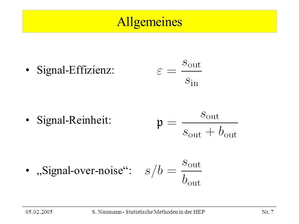 S. Naumann - Statistische Methoden in der HEP