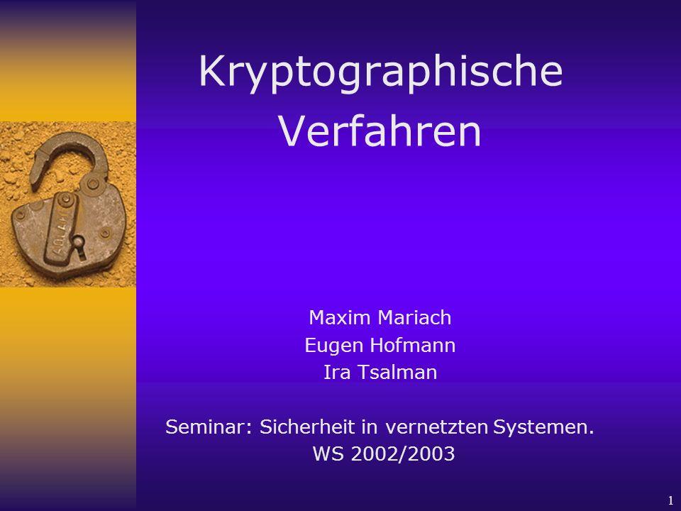 Seminar: Sicherheit in vernetzten Systemen.