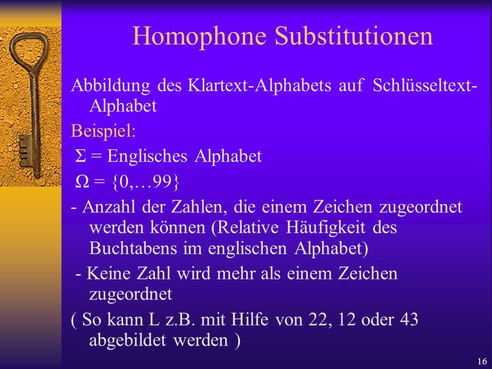 Homophone Substitutionen