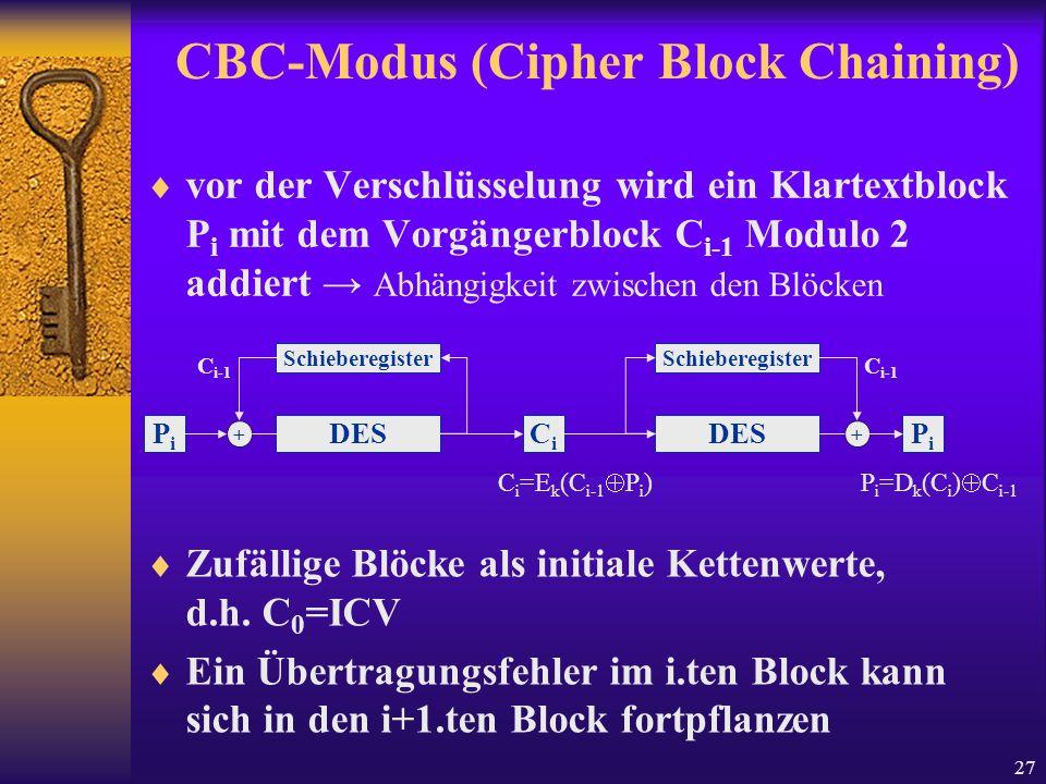 CBC-Modus (Cipher Block Chaining)