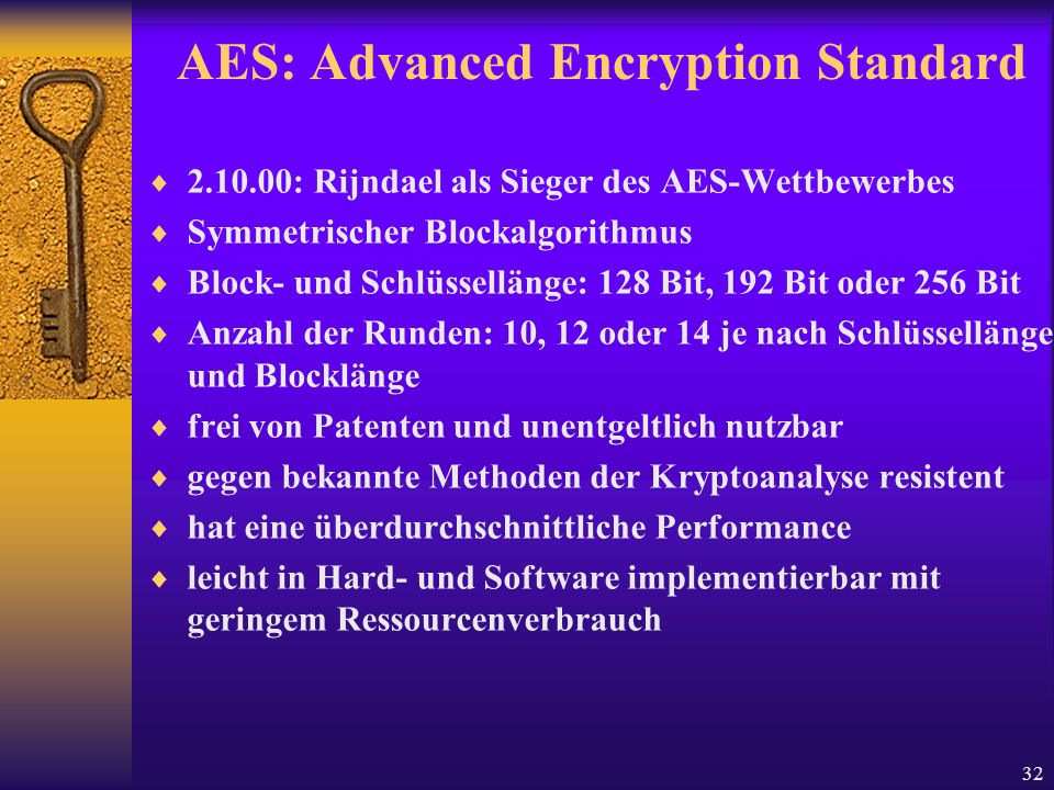 AES: Advanced Encryption Standard