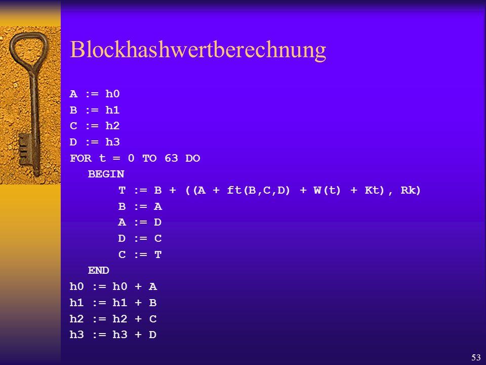 Blockhashwertberechnung
