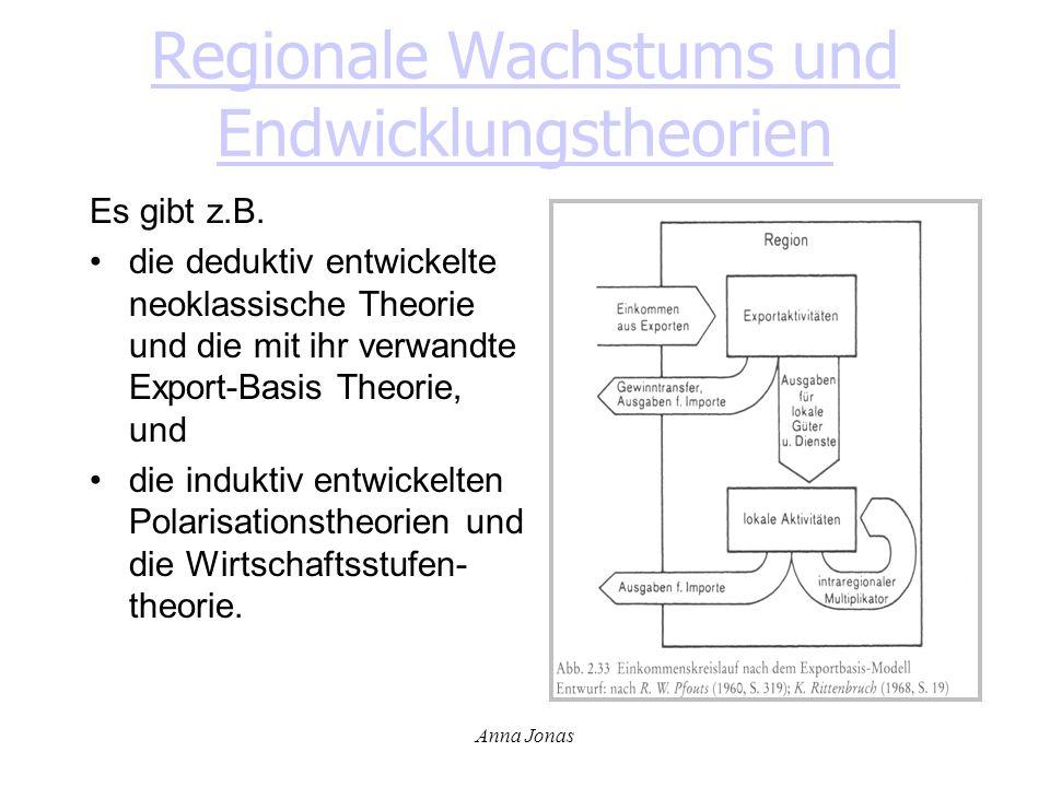Regionale Wachstums und Endwicklungstheorien
