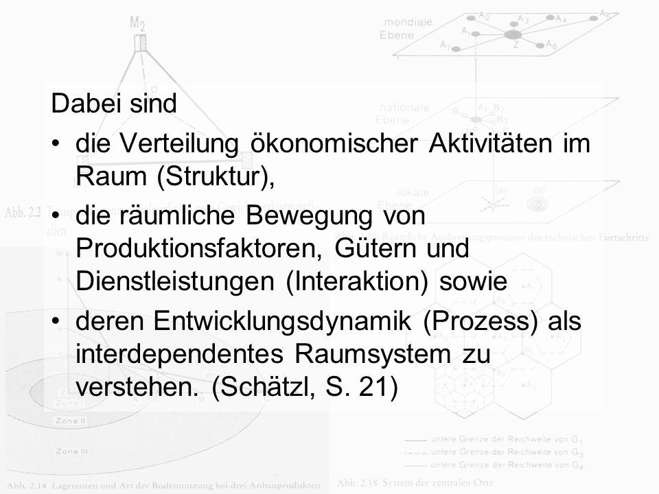 die Verteilung ökonomischer Aktivitäten im Raum (Struktur),