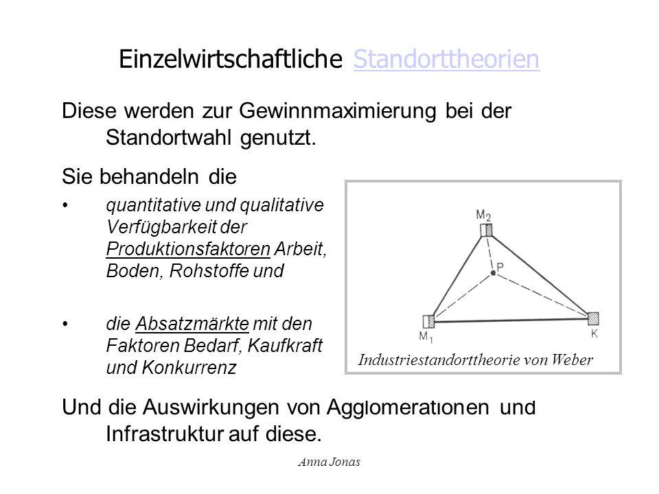 Einzelwirtschaftliche Standorttheorien