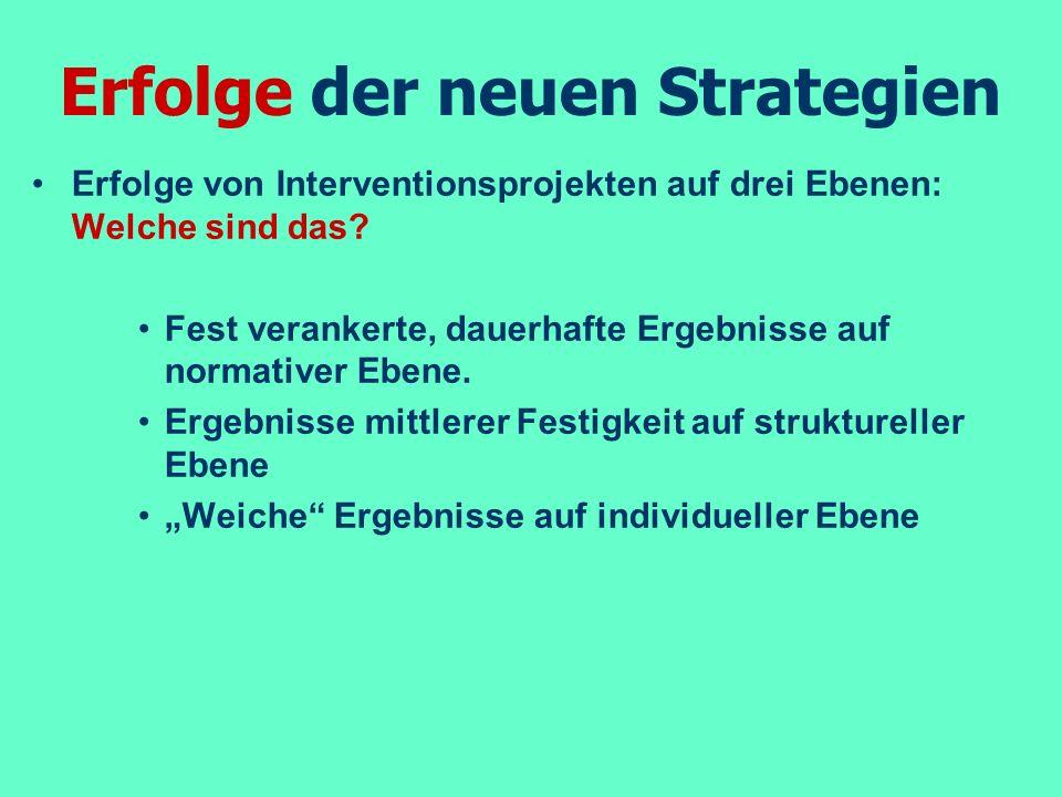 Erfolge der neuen Strategien