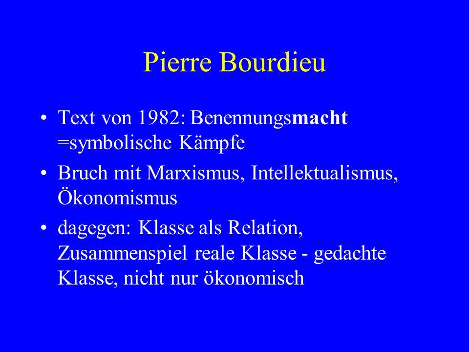 Pierre Bourdieu Text von 1982: Benennungsmacht =symbolische Kämpfe