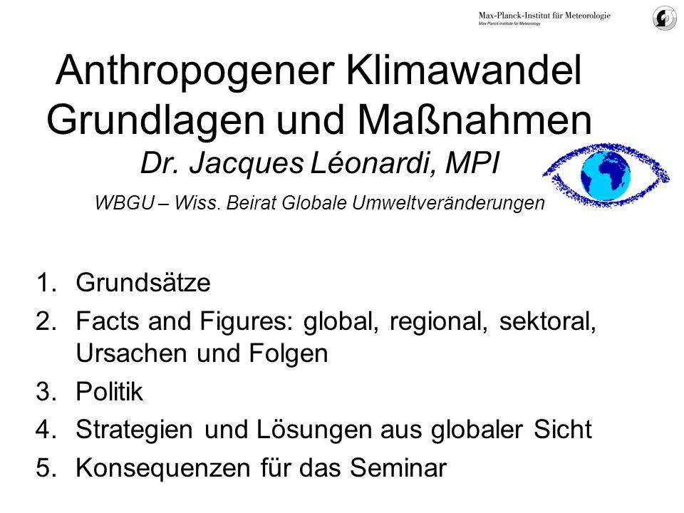 Anthropogener Klimawandel Grundlagen und Maßnahmen Dr