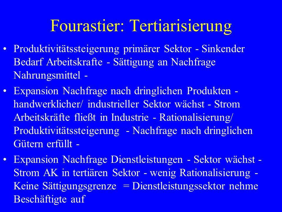 Fourastier: Tertiarisierung