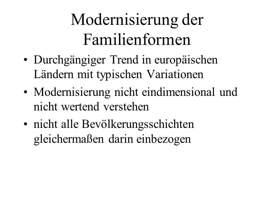 Modernisierung der Familienformen