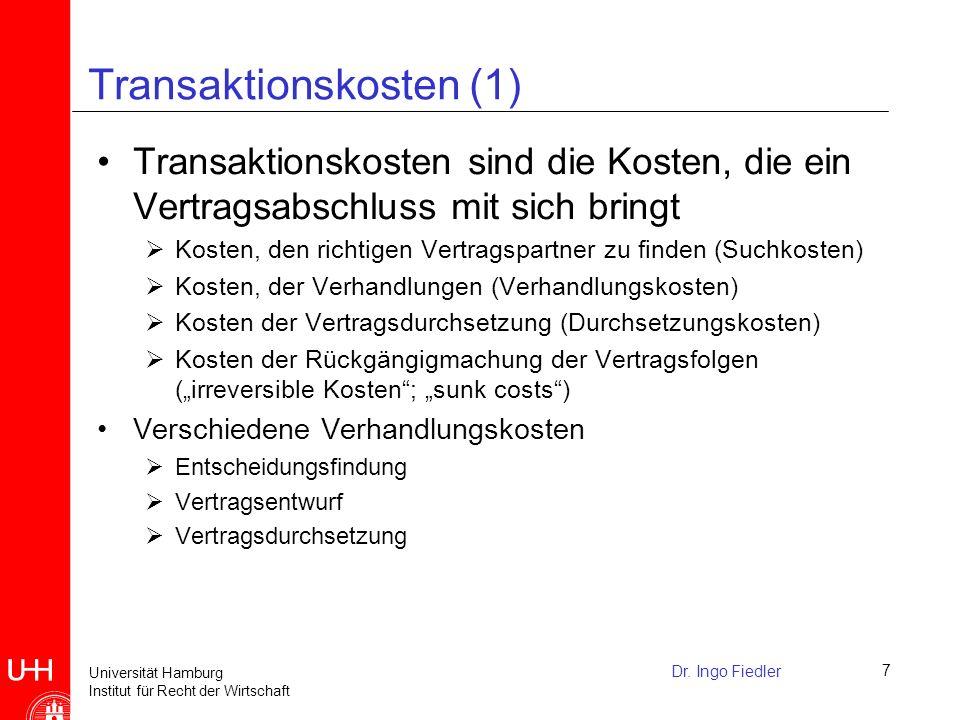 Transaktionskosten (1)