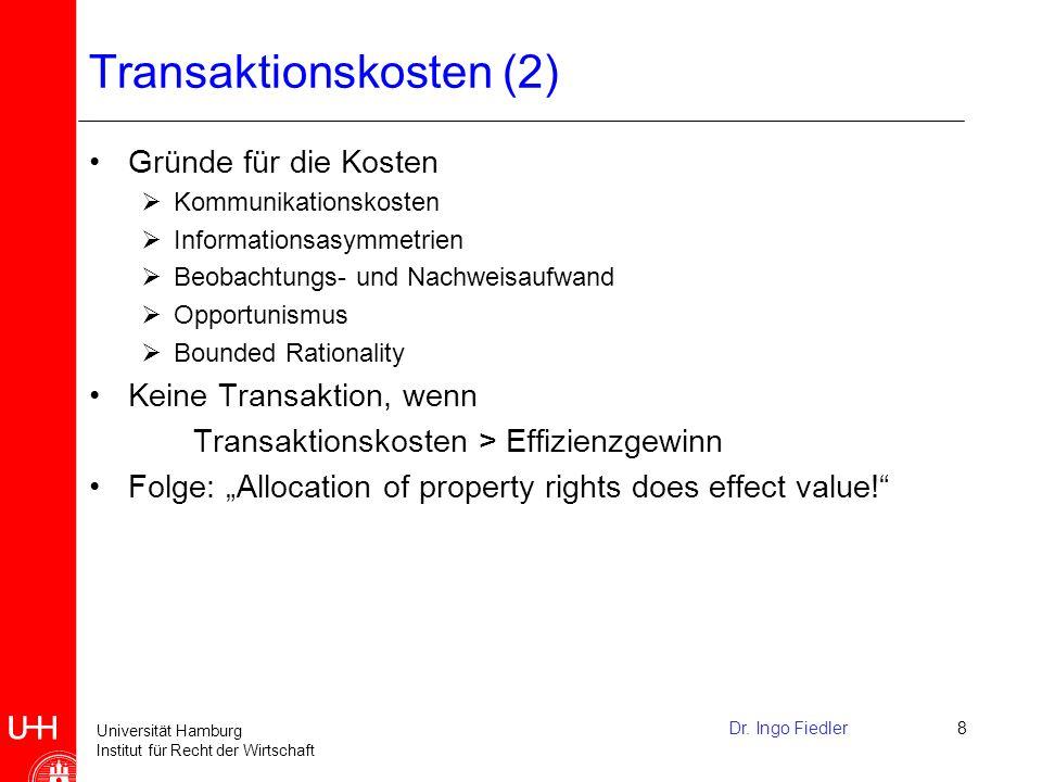Transaktionskosten (2)