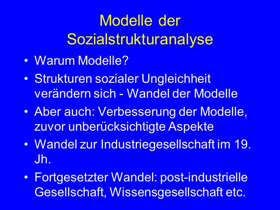 Modelle der Sozialstrukturanalyse