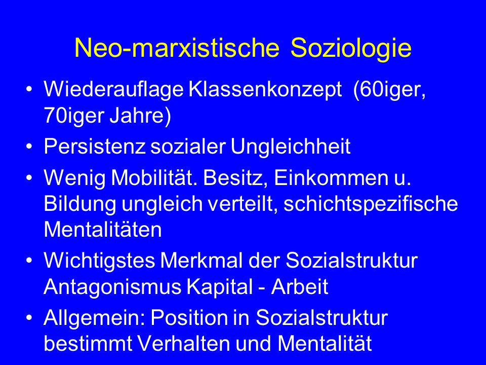 Neo-marxistische Soziologie