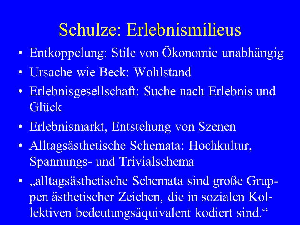 Schulze: Erlebnismilieus