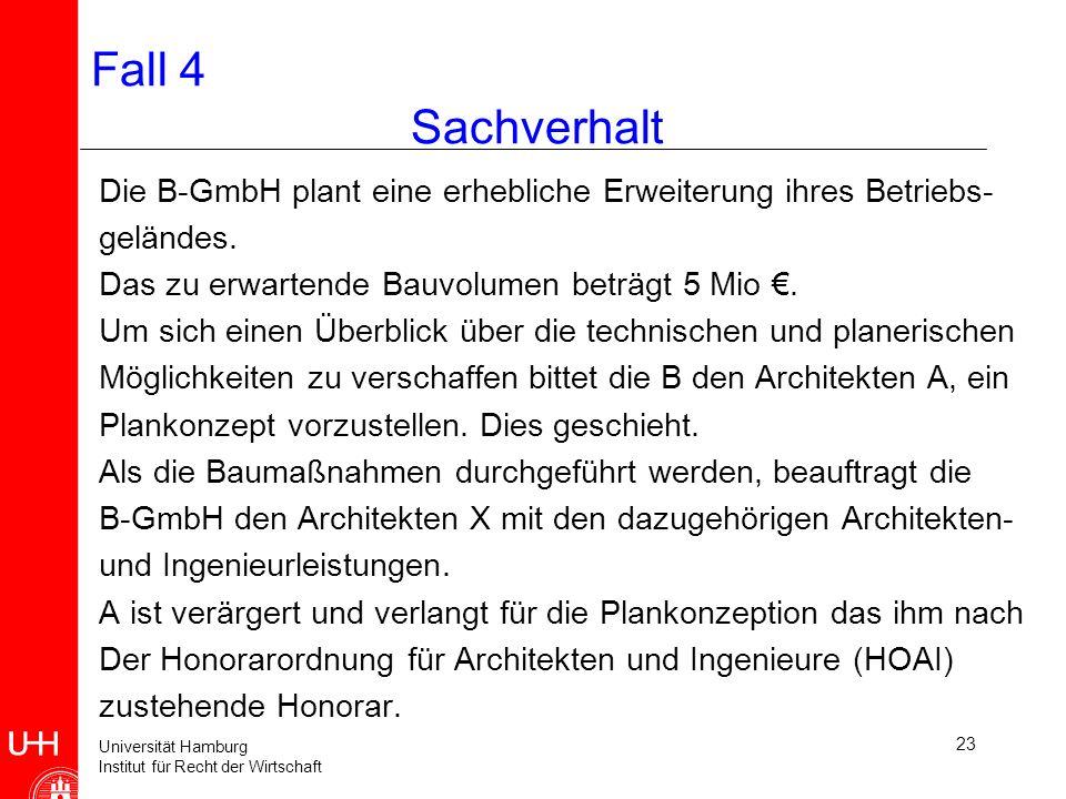 Fall 4 Sachverhalt Die B-GmbH plant eine erhebliche Erweiterung ihres Betriebs- geländes.