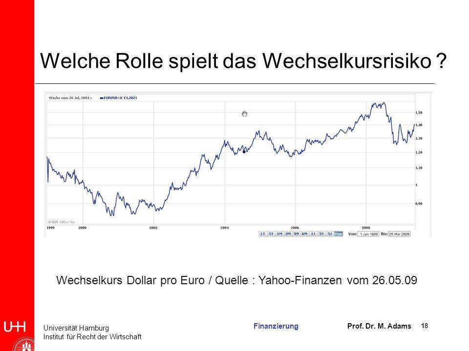 Welche Rolle spielt das Wechselkursrisiko