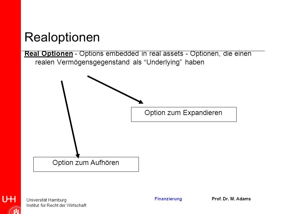 Option zum Expandieren