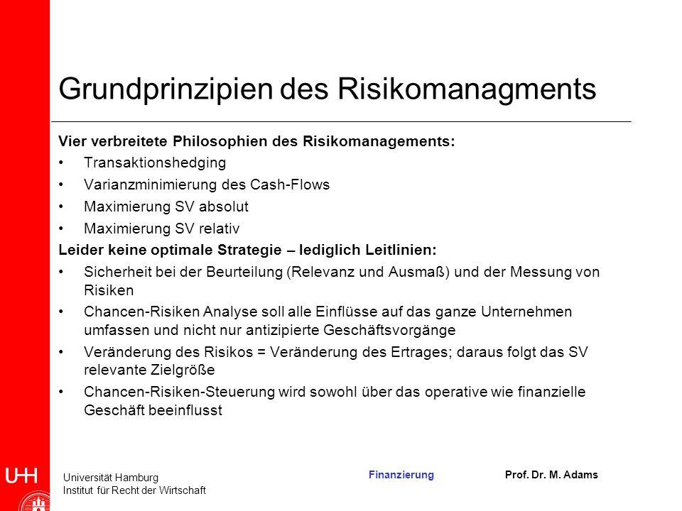 Grundprinzipien des Risikomanagments