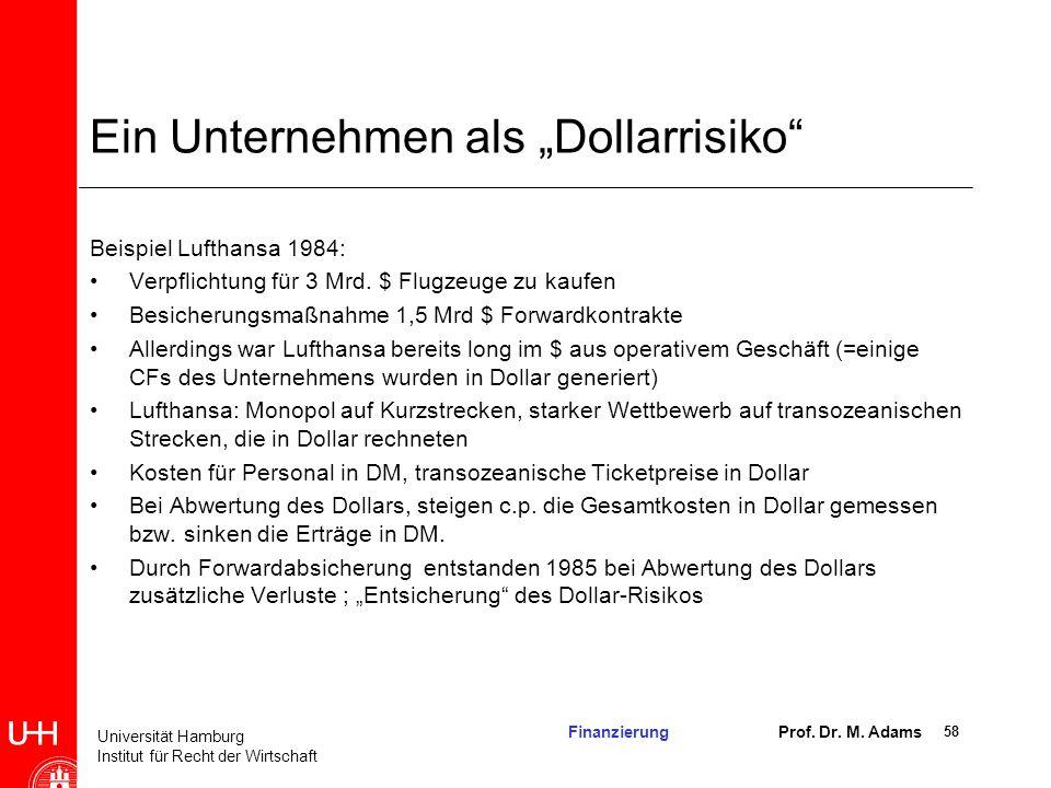 """Ein Unternehmen als """"Dollarrisiko"""