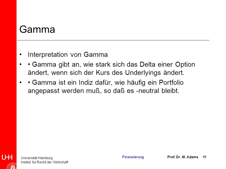 Gamma Interpretation von Gamma
