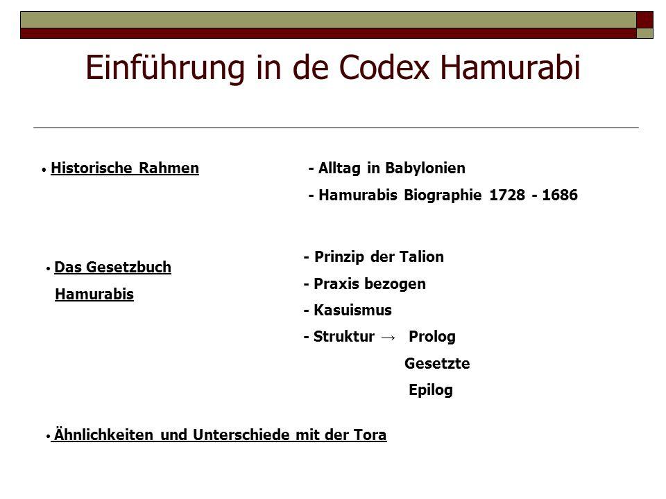 Einführung in de Codex Hamurabi