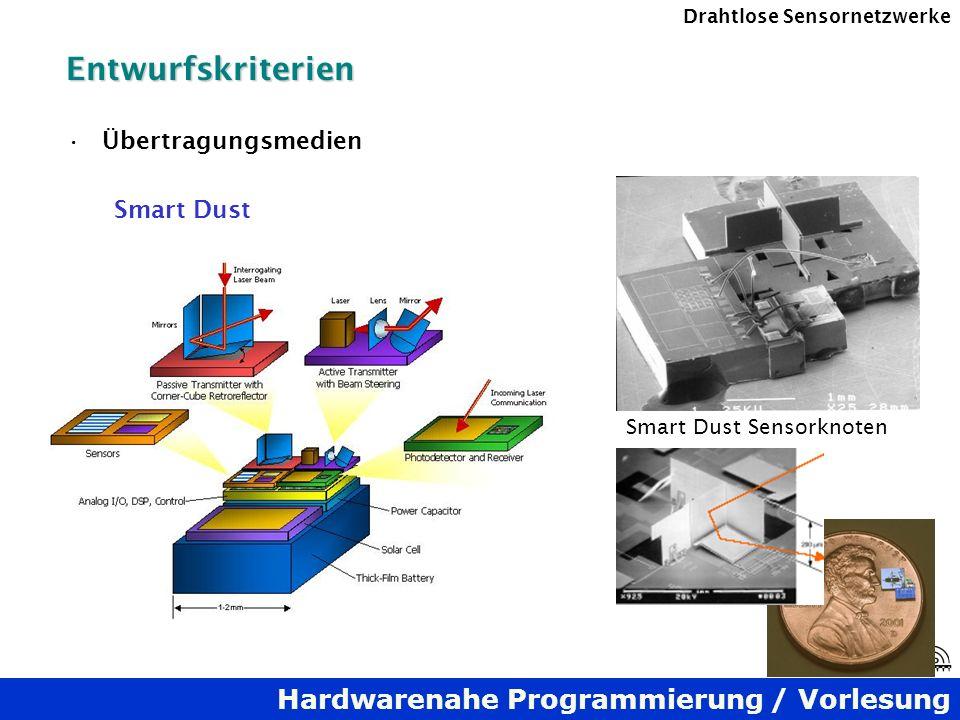 Entwurfskriterien Übertragungsmedien Smart Dust