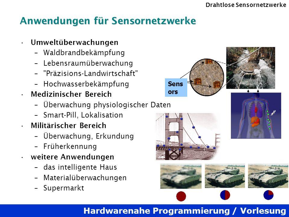 Anwendungen für Sensornetzwerke