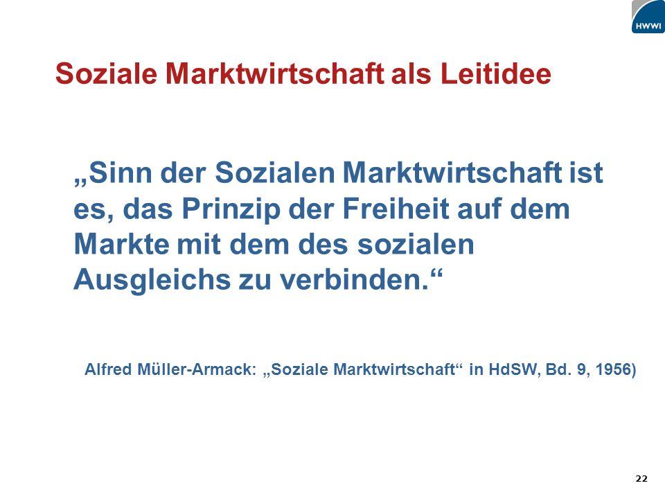 Soziale Marktwirtschaft als Leitidee