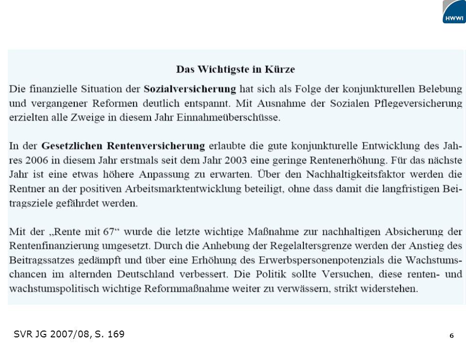 SVR JG 2007/08, S. 169 Titel