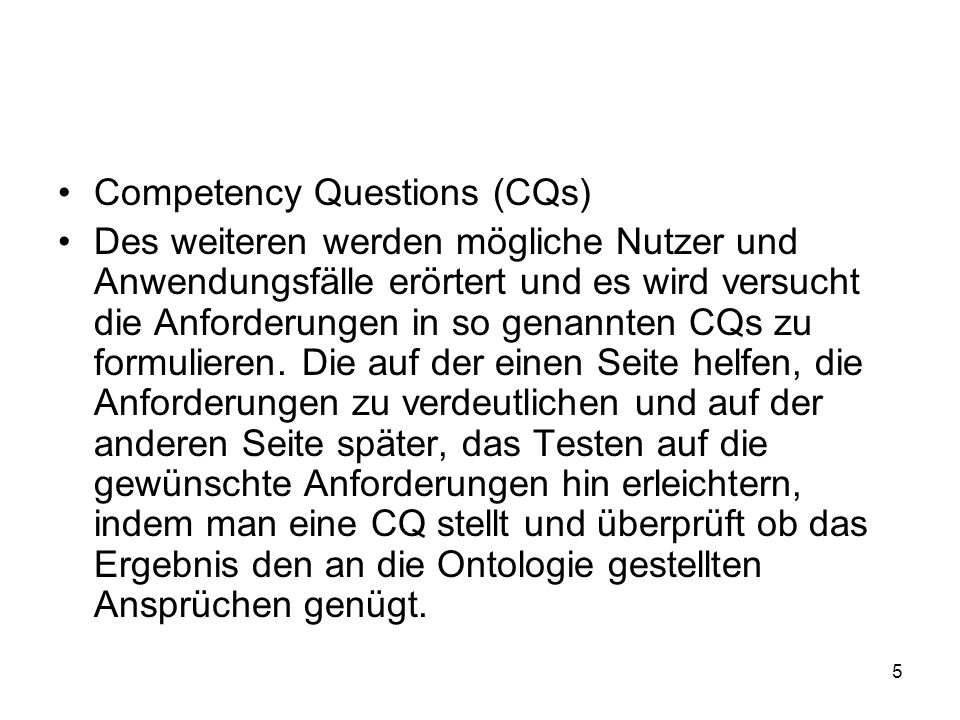 Competency Questions (CQs)
