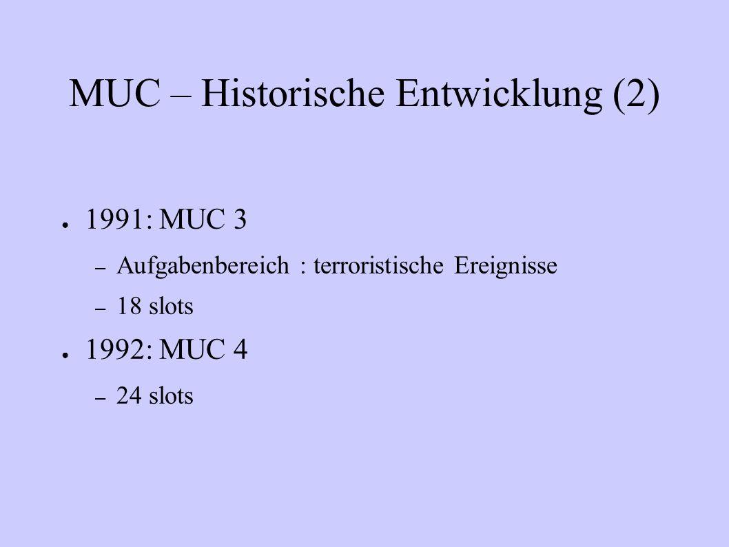 MUC – Historische Entwicklung (2)