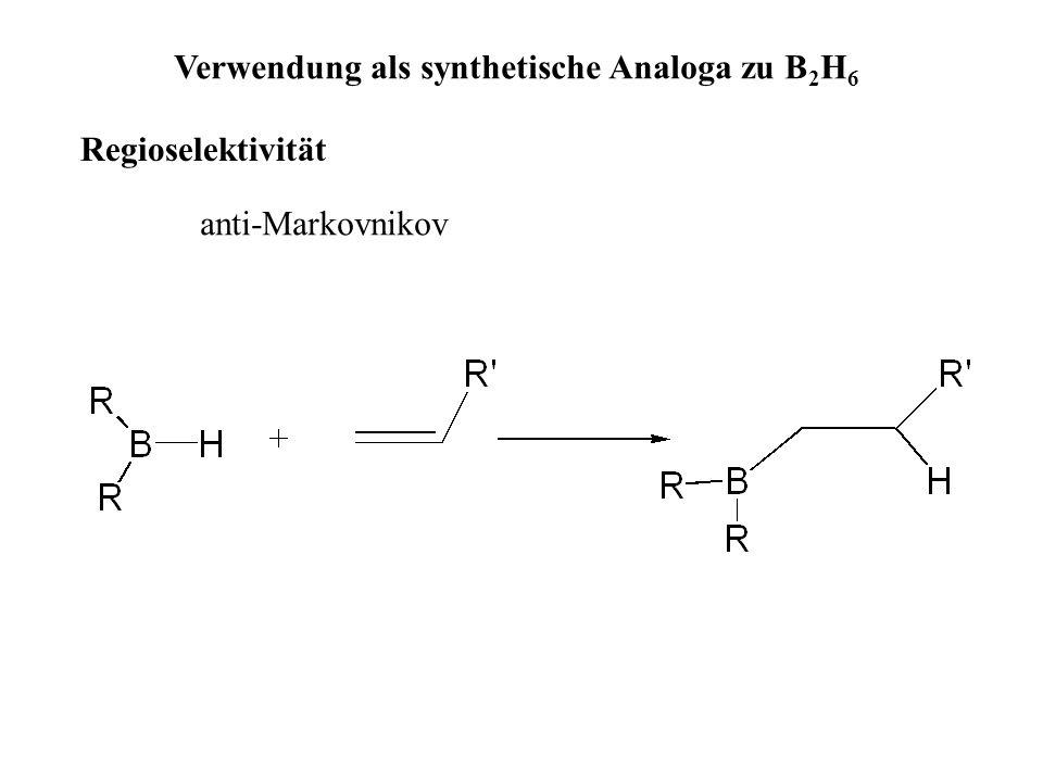 Verwendung als synthetische Analoga zu B2H6